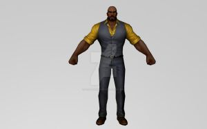 Luke Cage (All New All Different / 3DModel MFF) by Pitermaksimoff