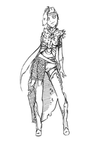 Armor lineart by Rongness