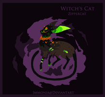 Holiday Zippercat: Witch's Cat [CLOSED] by Immonia
