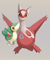 Latias and Snivy Plush