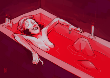 GORETOBER day 5 blood by MouthlessMouse