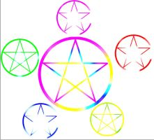 wicca stars elemental by Toboe217