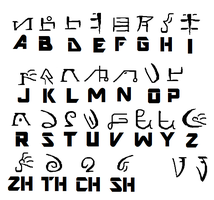 Middle Agori Alphabet by Tahuzilla