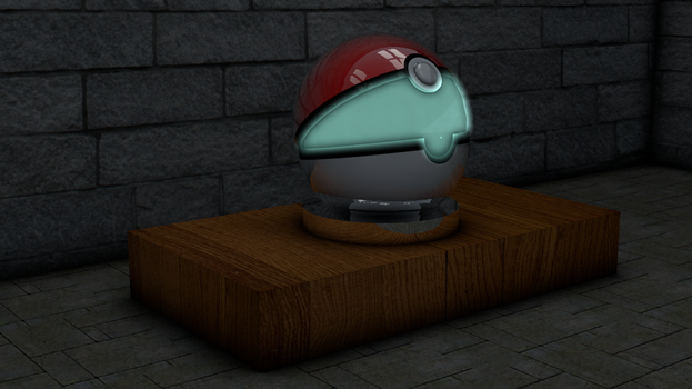 .::3D Open Pokeball::. by TwinDenis