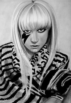 LADY GAGA 3 by AngelasPortraits