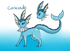 Cascade the vaporeon by PlatinaSena