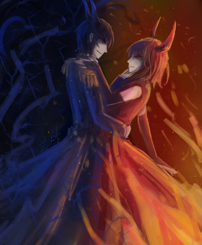 Osore and Itami by DeathTheBunny
