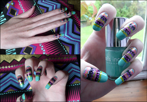 Tribal Nails by soyoubeauty