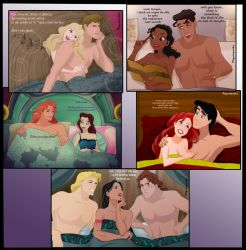 In bed with.... (some) Disney princesses by psyclopathe