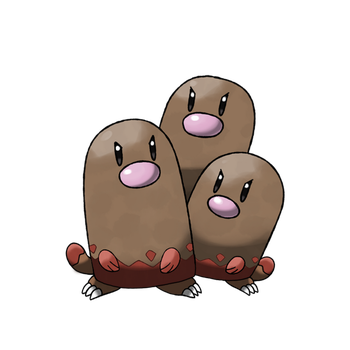 Dugtrio unearthed by ChristakosP
