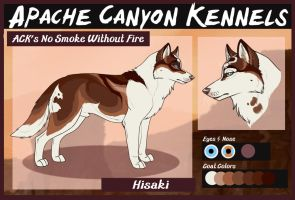 ACK's No Smoke Without Fire: Hisaki by Sedillo-Kennels