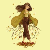 Autumn comes with a cardigan by Adventure-of-Moc