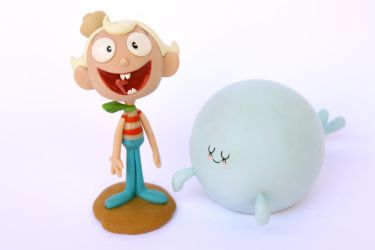 Flapjack and Bubbie figurines by Meeellla