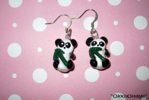 Panda Earrings by ichigoluv