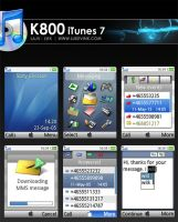 K800i iTunes 7 Theme by lukevink