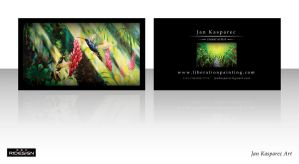 Jan Kasparec - visual artist -business card 1 by R1Design