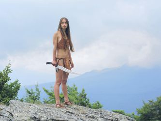 Girl with sword by ohlopkov