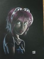 Ramona Flowers on Black by CycloneJin