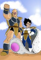 Nappa and Vegeta by fear229