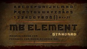 MB Element Standard | Grunge Font by modblackmoon