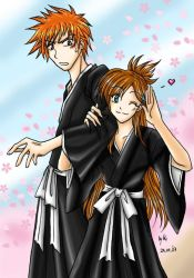 Ichigo and Orihime by Aiko-Mustang