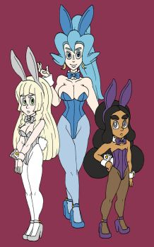 Bunny of the Week #51-53: Lillie, Clair and Hapu by Doctor-Awkward