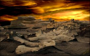 Bisti Ruins Sunset by MichaelAtman