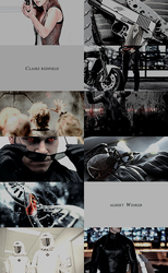 Resident Evil Moviverse | Wesker/Claire Aesthetics by mercscilla
