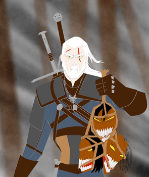 The Witcher (Samurai Jack style) by FuninightmareShow