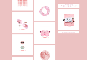 Texture pack - Light Rose| SilverDust by heymaryjean