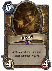 Hearthstone Card: Dryad. by Relinquish022