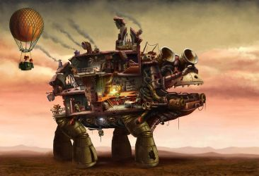 James and Giant Walking House by ser1o