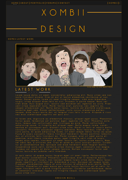 Web Design Layout by XombiiDesigns