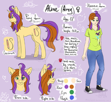 Aline (original character reference) by ArtyJoyful
