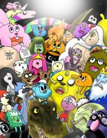 The Amazing Regular Adventure Time Show of Gumball by WaniRamirez