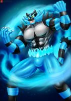 Blue Fire Incineroar Suit Guy - Patreon by St-Alpha