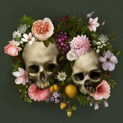 Skull Flowers by jezebel