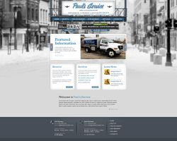 Web Design: Paul's Service by VictoryDesign