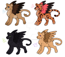 [OPEN] Winged Big Cats ADOPTS by Gakipper-Adopts