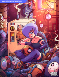 Fixing the machines - Commission by SkaJrZombie