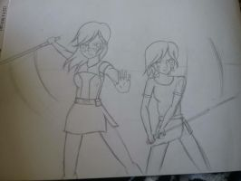 Barriss and Zonia WIP by jharmenta19