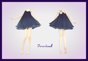 [MMD] Cute Black Dress DOWNLOAD~ (FIXED) by AyaneFoxey