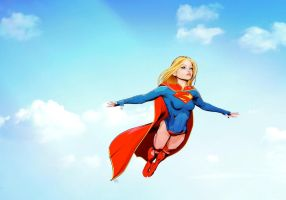 supergirlFly by maxx0
