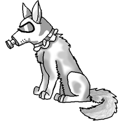 gas mask wolf {free chatlands pose} by Noodle-Beast