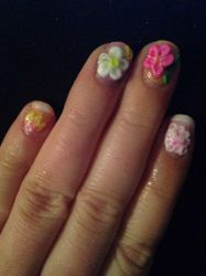 First attempt at 3D nail art by Tobyana
