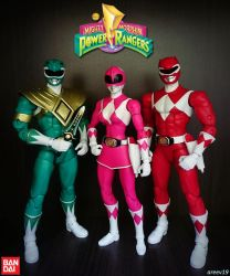Green Ranger x Pink Ranger x Red Ranger by areev19