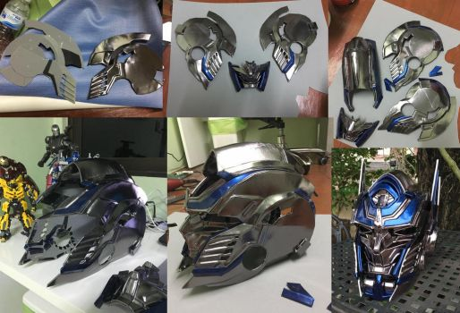 The Making of Optimus Prime Helmet by oucd45