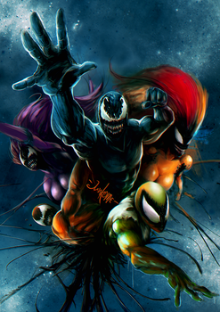 The Five Symbiotes by junkome