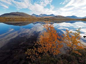Autumn reflections in the mountains by Morgan-Lou