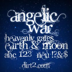 Angelic War - Free Font by KeepWaiting